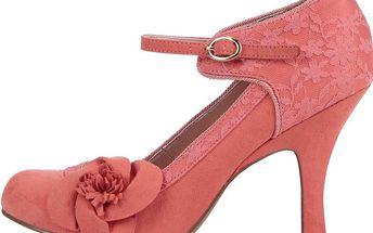 Korálové lodičky s květinou Ruby Shoo Anna