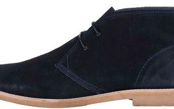 Tmavě modré semišové kotníkové boty Jack & Jones Alpha