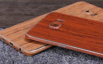 Kryt na telefon v imitaci dřeva pro Samsung Galaxy S6