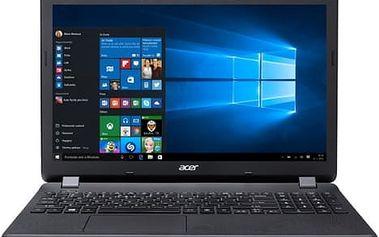 "Acer Extensa 15 (EX2519-C4HS) Celeron N3160/4GB+N/1TB+N/DVDRW/HD Graphics/15.6"" HD LED matný/BT/W10 Home/Black"