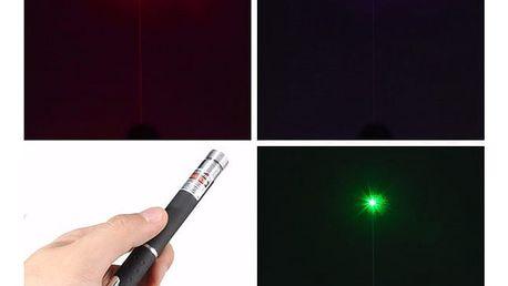 Výkonné laserové ukazovátko - 3 barvy laseru
