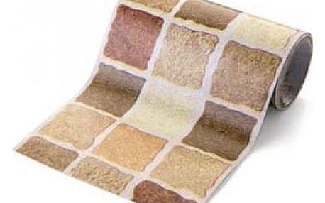 Nalepovací pás na stěnu - mozaika - hnědá - dodání do 2 dnů