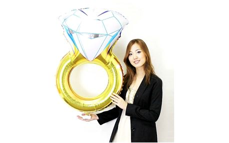 Svatební dekorace Prsten s diamantem