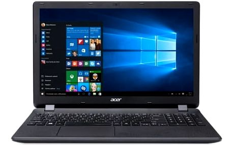 "Acer Extensa 15 (EX2519-C4HS) Celeron N3160/4GB+N/1TB+N/DVDRW/HD Graphics/15.6"" HD LED matný/BT/W10 Home/Black"