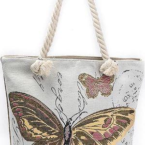 Fashion Icon Dámská kabelka Motýl lněná