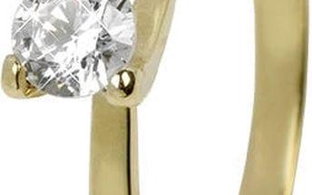 Brilio Dámský prsten s krystalem 223 001 00089 51 mm