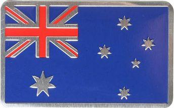 Balení 3D samolepek australské vlajky