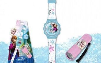 Hodinky a baterka na motivy Frozen - dodání do 2 dnů