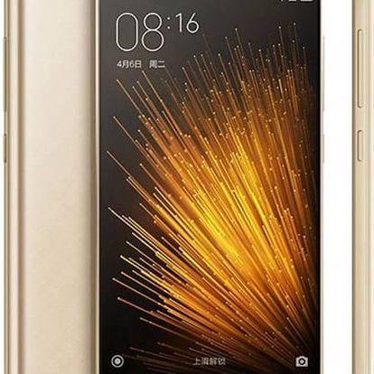 Mobilní telefon Xiaomi Mi5 32 GB ve zlaté barvě s 16 MPx fotoaparátem
