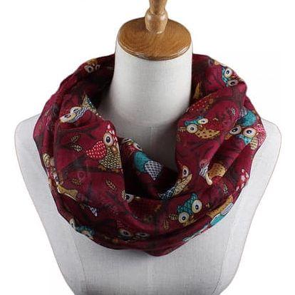 Dámský šátek se sovičkami - 7 variant - dodání do 2 dnů