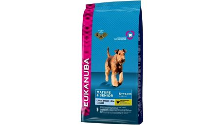 Granule Eukanuba Mature & Senior Large Breed 15 kg Granule Eukanuba Mature & Senior Large Breed 3 kg (zdarma) + Doprava zdarma
