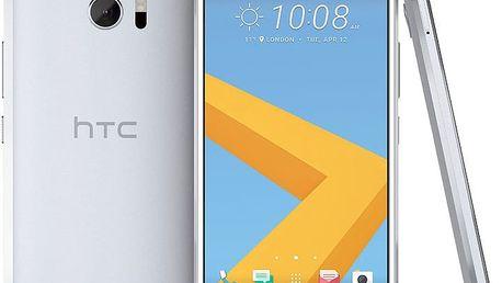 HTC 10 - 32GB, stříbrná + Zdarma GSM reproduktor Accent Funky Sound, červená (v ceně 299,-)