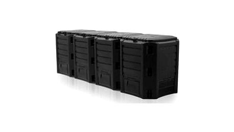 COMPOGREEN Kompostér 1600 L (4x400l) černý