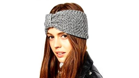 Trendy pletená čelenka Becky