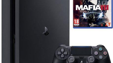PlayStation 4 Slim, 1TB, černá + Mafia III - PS719896654