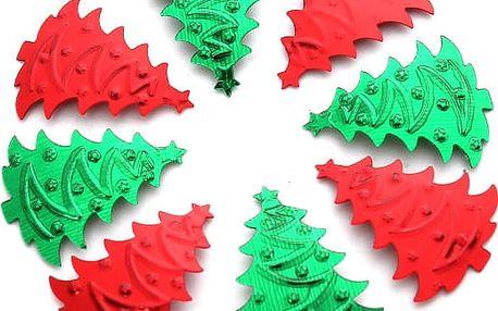 Červené a zelené vánoční stromečky k dekorování - 200 kusů