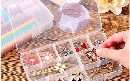 Organizér na šperky plastový