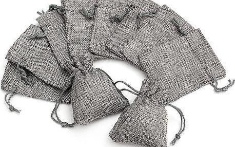 Dekorační nebo dárkové pytlíčky z pytloviny - 10 kusů