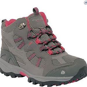 Dětská turistická obuv Regatta RKF253 CROSSLAND MID Charcoal/Pop