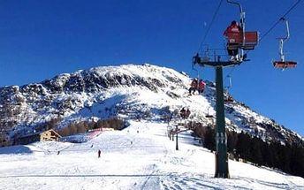 Itálie, Aprica: 5denní lyžařský zájezd pro 1 osobu vč. dopravy, 2 nocí, skipas, polopenze