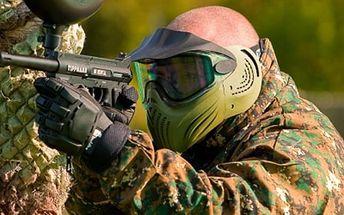 Paintball Masečín. 4 hodiny paintballu na 5 outdoorových hřištích včetně zapůjčení vybavení a munice