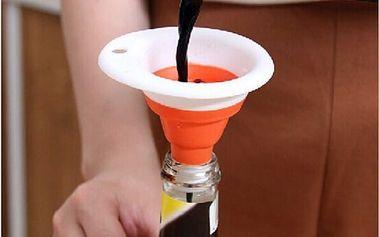 Skládací barevný silikonový trychtýř - nálevka - dodání do 2 dnů