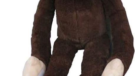 MAC TOYS Plyšová opice dlouhá ruka 100 cm, tmavě hnědá