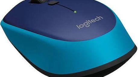 Myš Logitech Wireless Mouse M335 (910-004546) modrá + Doprava zdarma