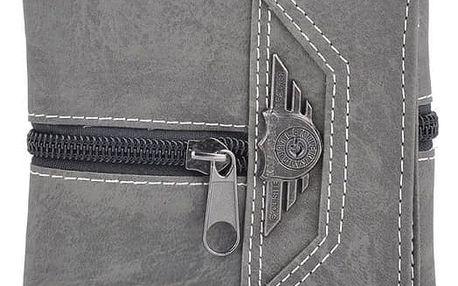 Pánská peněženka s ozdobným zipem - 3 barvy