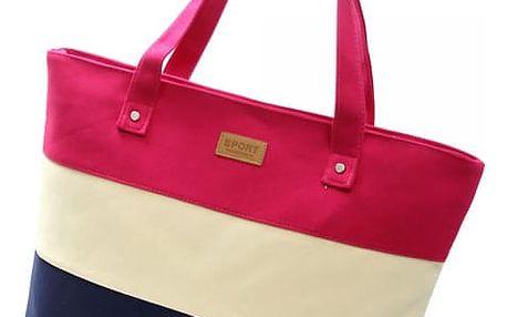 Dámská letní kabelka s pruhy - 5 barev