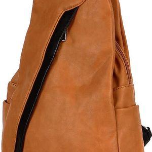 Koženkový batoh/kabelka 3V1 hnědá/černá