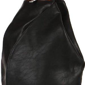 Asymetrický koženkový batoh černá/hnědá