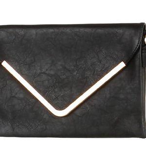 Malá kabelka/psaníčko se zlatým lemem černá