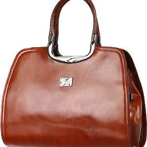 Elegantní retro kabelka hnědá