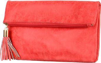 Obdélníkové psaníčko se střapcem červená