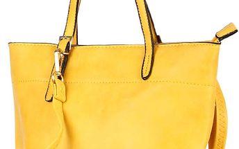 Malá elegantní kabelka do ruky žlutá