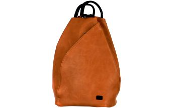 Asymetrický koženkový batoh hnědá/černá