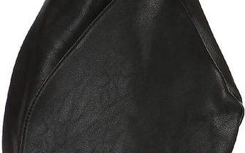 Asymetrický koženkový batoh černá