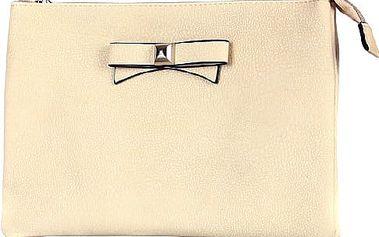 Větší psaníčko/malá kabelka s mašlí béžová