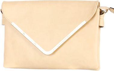 Malá kabelka/psaníčko se zlatým lemem světle hnědá