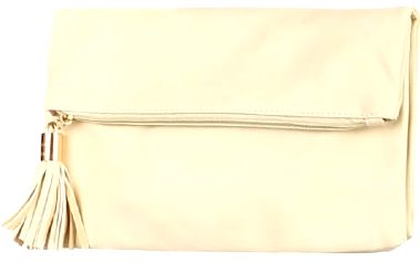 Obdélníkové psaníčko se střapcem béžová