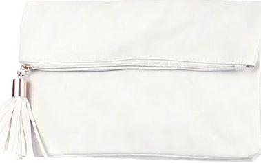 Obdélníkové psaníčko se střapcem bílá