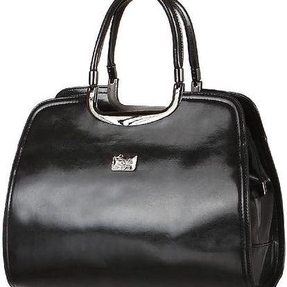 Elegantní retro kabelka černá