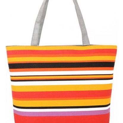 Dámská kabelka s barevnými proužky