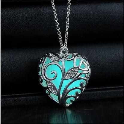 Svítící náhrdelník s přívěskem v podobě srdce - dodání do 2 dnů