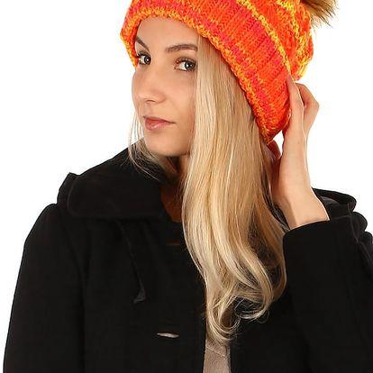 Barevný žíhaný kulich oranžová