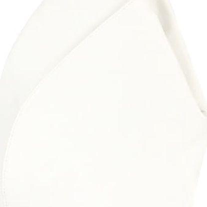 Asymetrický koženkový batoh bílá/šedá