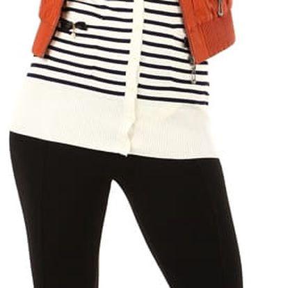 Koženková dámská bunda s límečkem cihlová