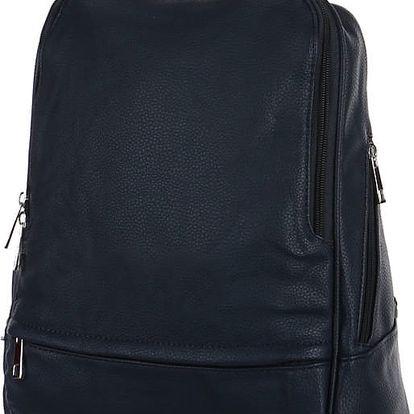 Elegantní koženkový batoh modrá