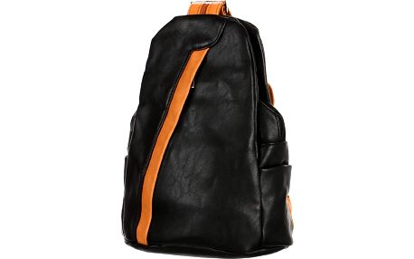 Koženkový batoh/kabelka 3V1 černá/hnědá